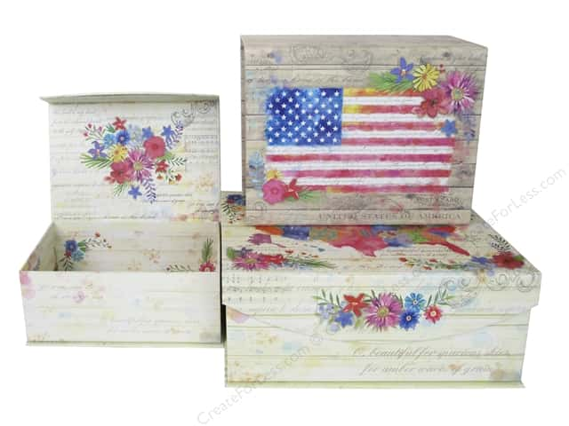 Punch Studio Box Nesting Medium American Beauty Set/3