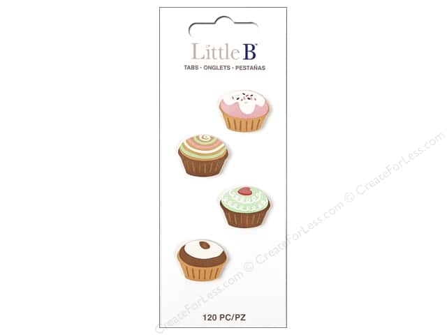 Little B Paper Adhesive Tabs Cupcakes