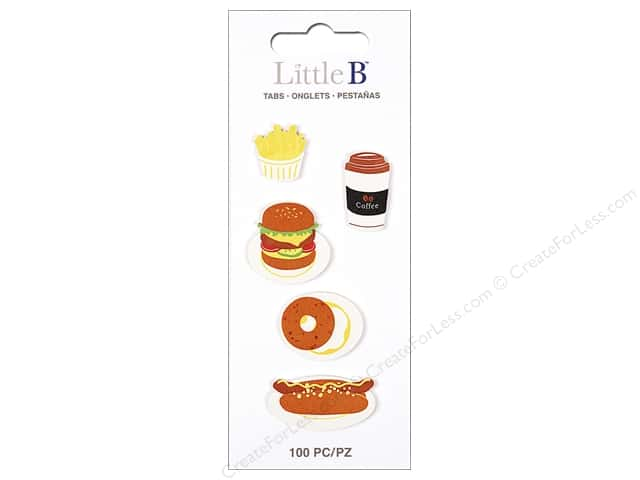 Little B Paper Adhesive Tabs Fast Food