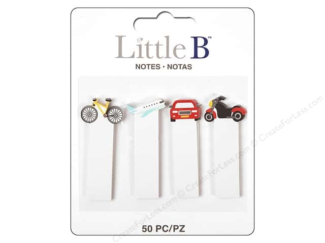 Little B Paper Adhesive Tabs Transportation