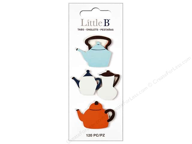 Little B Paper Adhesive Tabs Teapots