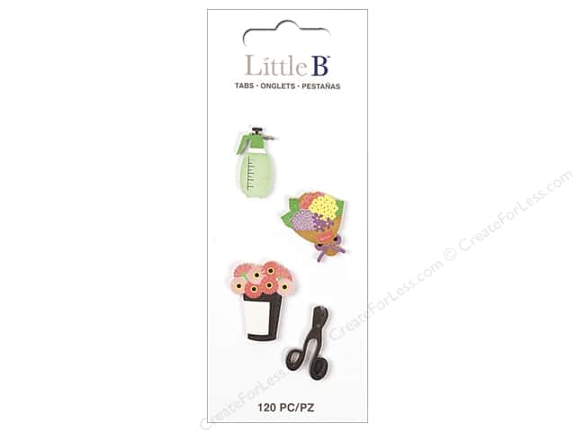 Little B Paper Adhesive Tabs Flower Shop