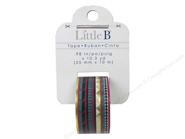 Little B Decorative Paper Tape 1 in. Gold Foil Tribal