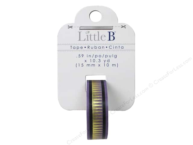 Little B Decorative Paper Tape 5/8 in. Gold Foil Spike Tribal