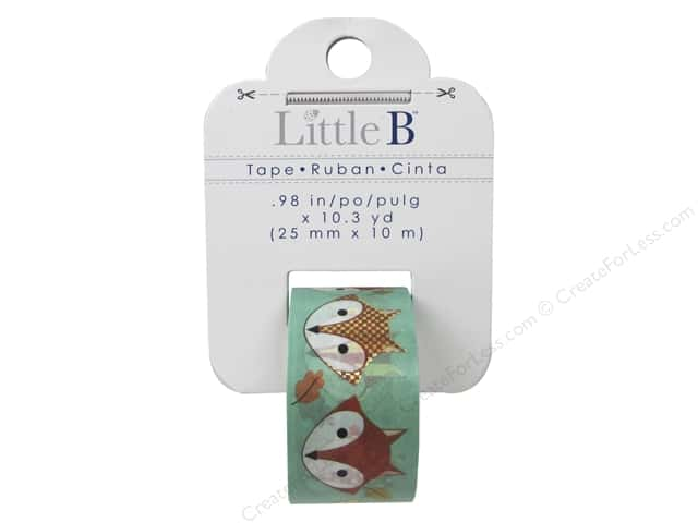 Little B Decorative Paper Tape 1 in. Gold Foil Fox Head