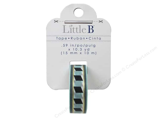 Little B Decorative Paper Tape 5/8 in. Gold Foil Accordion Tribal