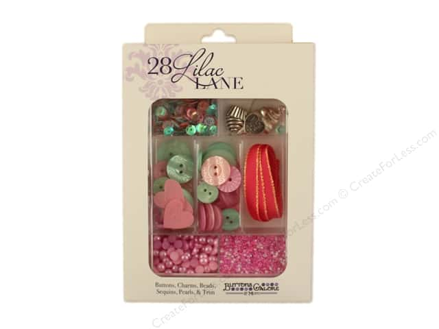 Buttons Galore 28 Lilac Lane Embellishment Kit Hello, Cupcake