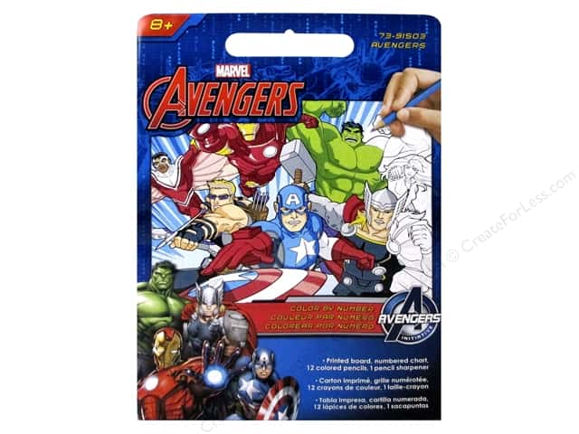 "Dimensions Color By Number 9""x 12"" Avengers"