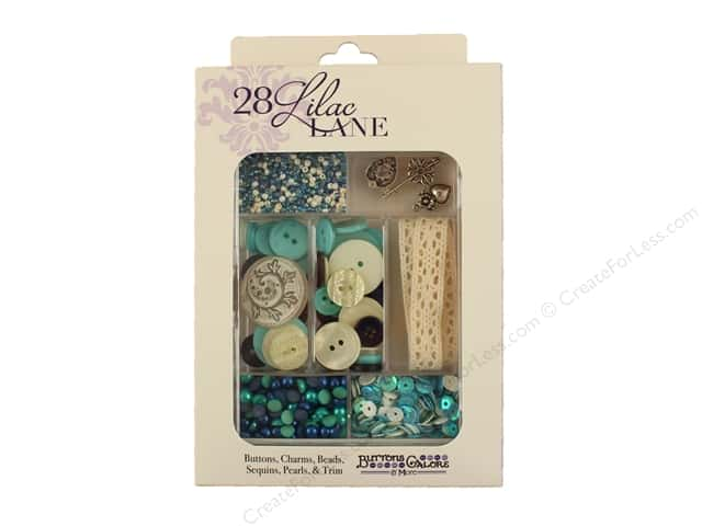 Buttons Galore 28 Lilac Lane Embellishment Kit Attic Findings
