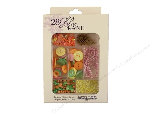 Buttons Galore 28 Lilac Lane Embellishment Kit Tropical Twist