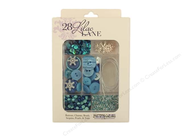 Buttons Galore 28 Lilac Lane Embellishment Kit Let It Snow
