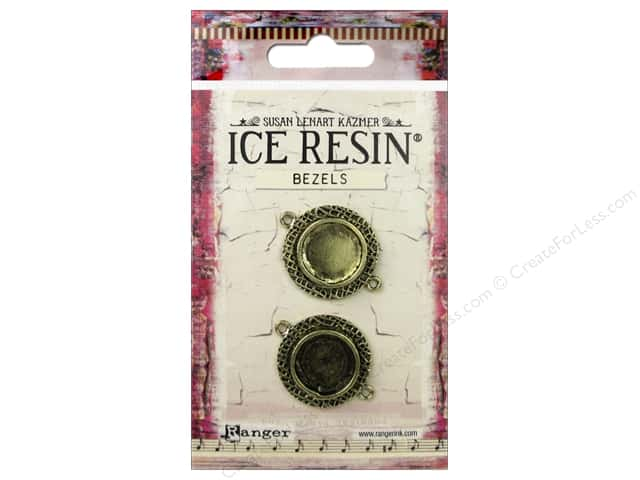 Ranger ICE Resin Milan Bezels 2 pc. Small Circle Antique Bronze