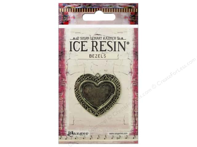 Ranger ICE Resin Milan Bezel Medium Heart Antique Bronze