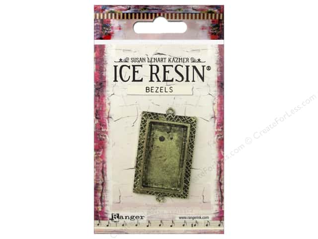 Ranger ICE Resin Milan Bezels 1 pc. Medium Rectangle Antique Bronze