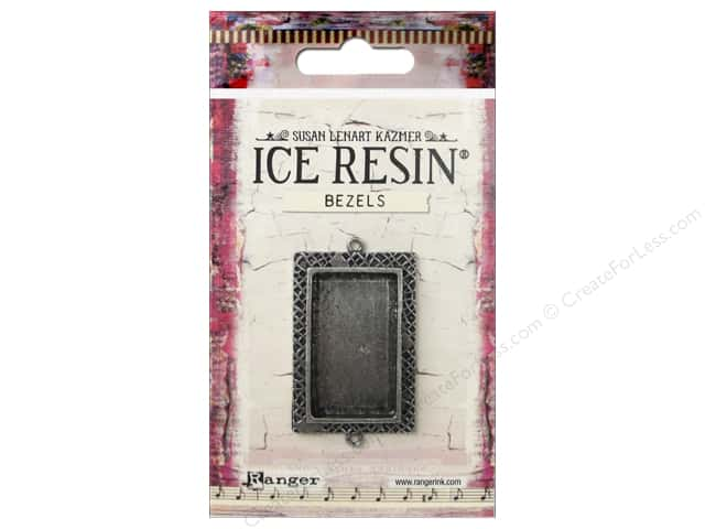 Ranger ICE Resin Milan Bezel Medium Rectangle Antique Silver