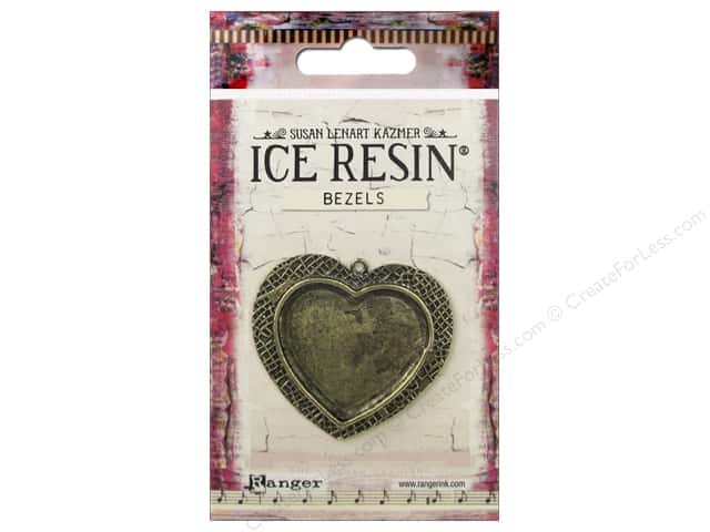 Ranger ICE Resin Milan Bezel Large Heart Antique Bronze