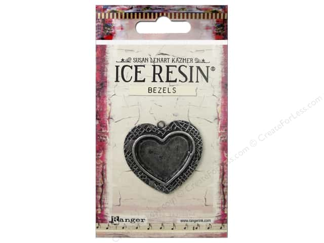 Ranger ICE Resin Milan Bezel Medium Heart Antique Silver