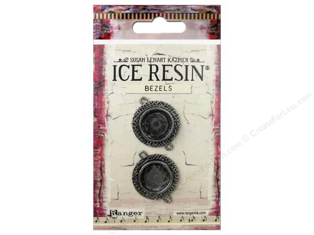 Ranger ICE Resin Milan Bezel Small Circle Antique Silver 2pc