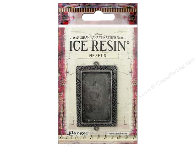 Ranger ICE Resin Milan Bezel Large Rectangle Antique Silver