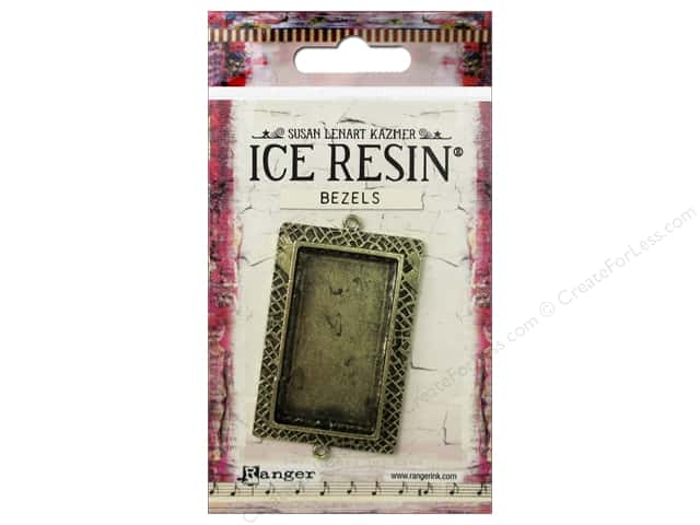 Ranger ICE Resin Milan Bezel Large Rectangle Antique Bronze