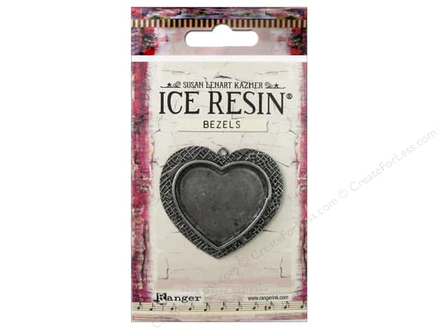 Ranger ICE Resin Milan Bezel Large Heart Antique Silver