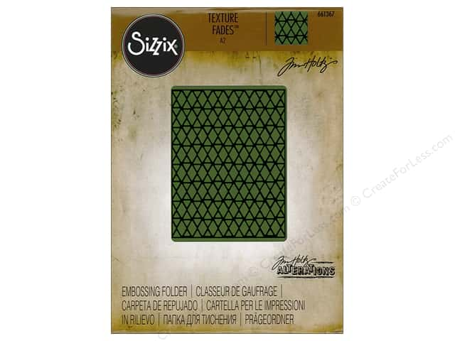 Sizzix Texture Fades Embossing Folders 1 pc. Lattice