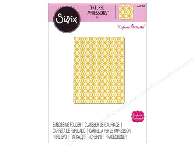 Sizzix Textured Impressions Embossing Folders 1 pc. Squares In Ovals