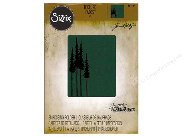 Sizzix Texture Fades Embossing Folders 1 pc. Tall Pines