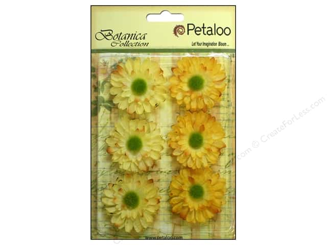 Petaloo Botanica Collection Gerber Daisy Yellow