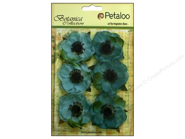 Petaloo Botanica Collection Anemone Teal