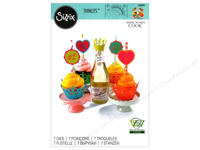 Sizzix Thinlits Die Set 7 pc. Cupcake Wrappers