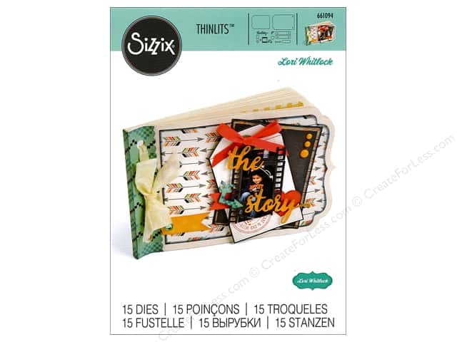 Sizzix Thinlits Die Set 15 pc. Essential Mini Album