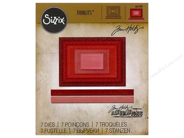 Sizzix Thinlits Die Set 7 pc. Stitched Rectangles