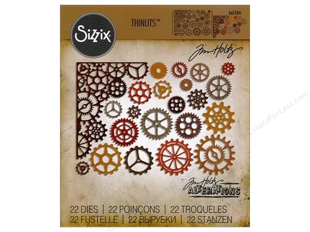Sizzix Thinlits Die Set 22 pc. Gearhead