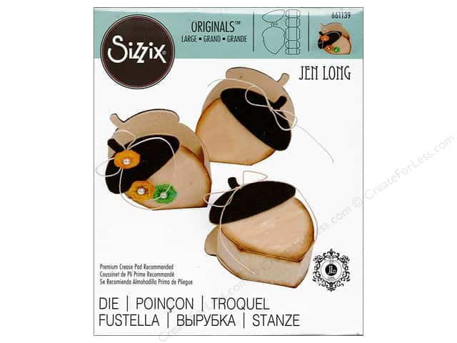 Sizzix Dies Fox Tales Jen Long Originals Box Acorn