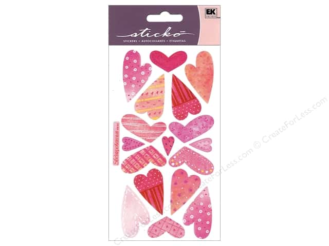 EK Sticko Stickers Vellum Sweethearts
