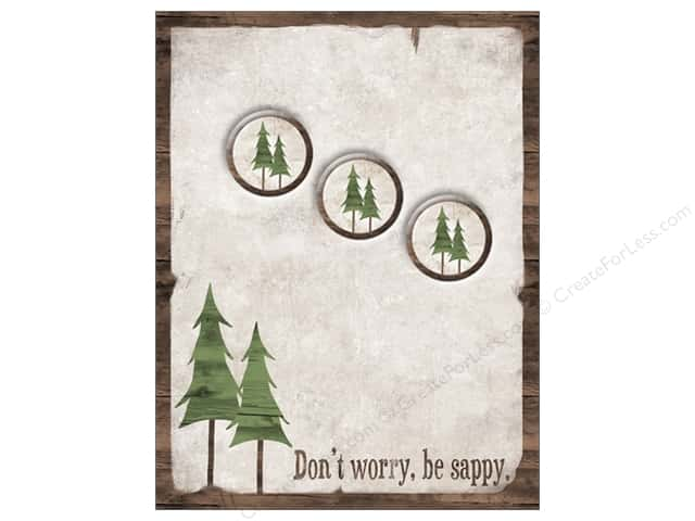 The Wooden Bear Notepad & Magnet Don't Worry Be Sappy