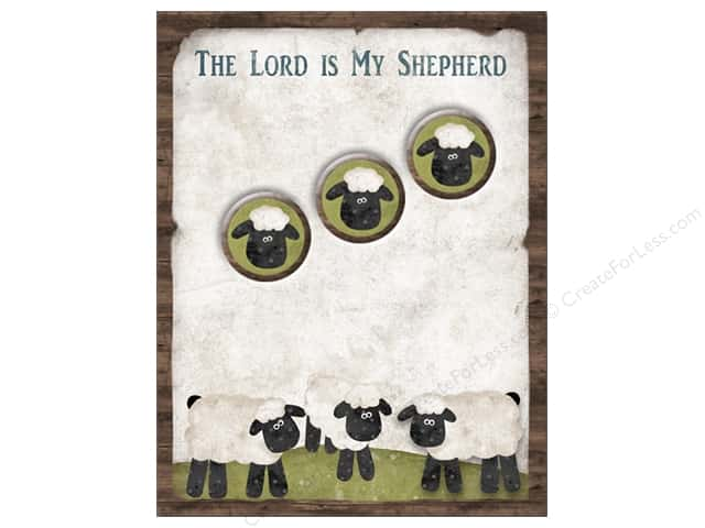 The Wooden Bear Notepad & Magnet Lord Is My Shepherd