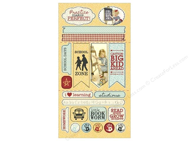 Authentique Die Cuts Studious Components (12 sets)