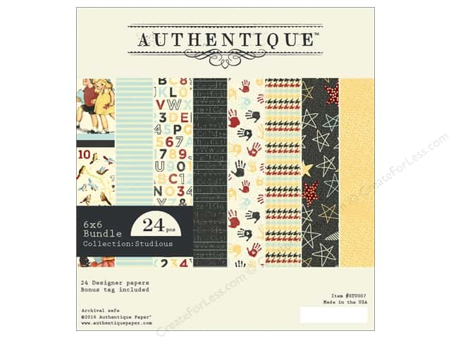 Authentique 6 x 6 in. Paper Bundle Studious Collection