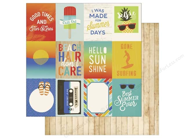 Carta Bella 12 x 12 in. Paper Beach Day Journal Card 3 x 4 in. (25 sheets)