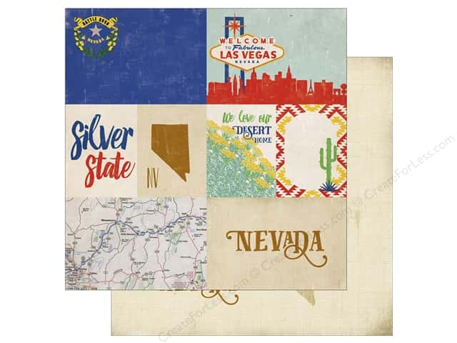 Echo Park 12 x 12 in. Paper Stateside Nevada (25 sheets)