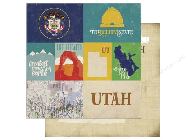 Echo Park 12 x 12 in. Paper Stateside Utah (25 sheets)