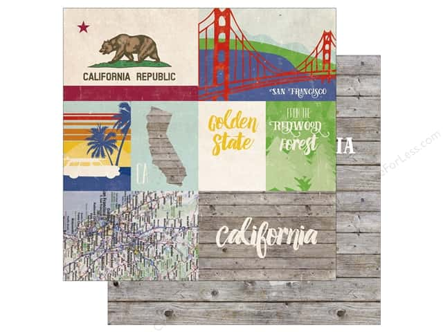 Echo Park 12 x 12 in. Paper Stateside California (25 sheets)