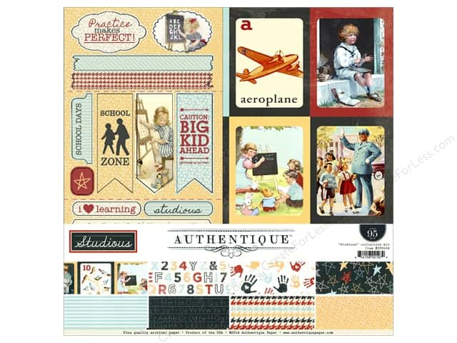 Authentique 12 x 12 in. Collection Kit Studious