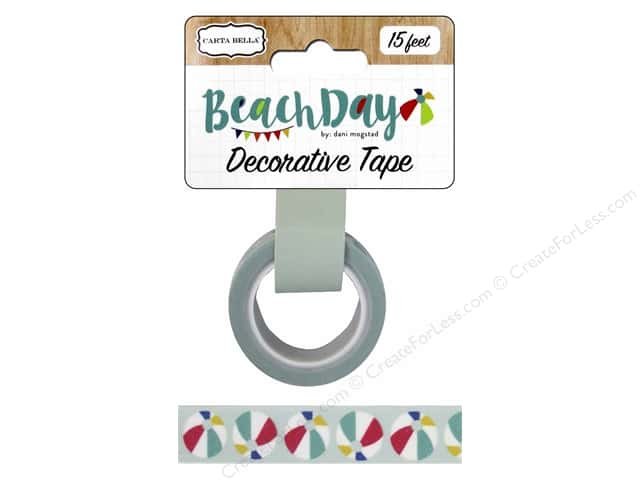 Carta Bella Decorative Tape Beach Day Beach Ball