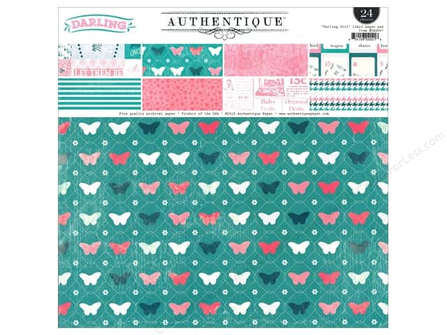 Authentique Paper Pad 12 x 12 in. Darling Girl
