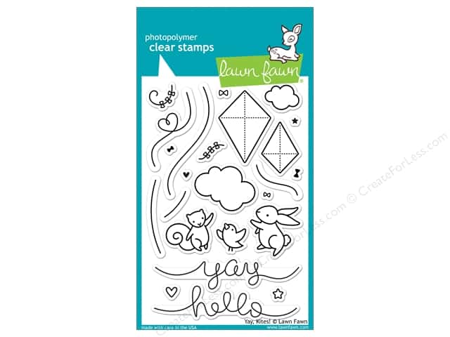 Lawn Fawn Clear Stamp Yay, Kites!