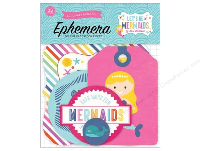 Echo Park Ephemera Pack Lets Be Mermaids Collection