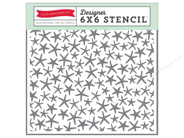 Echo Park Designer Stencil 6 x 6 in. Lets Be Mermaids Collection Starfish